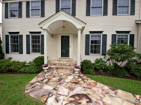 how to install a flagstone walkway findhow com